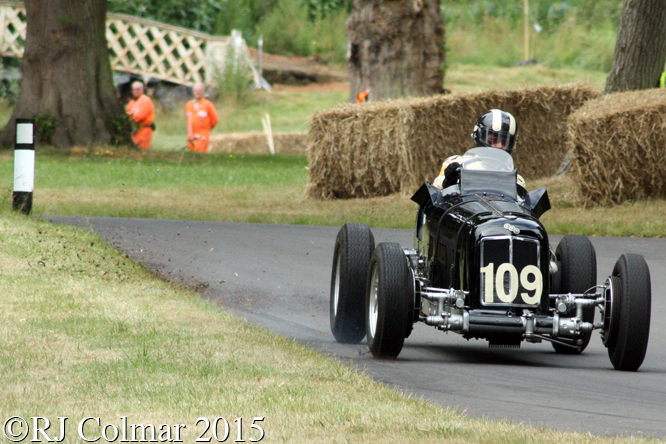 ERA R4A, James Baxter, Chateau Impney Hill Climb