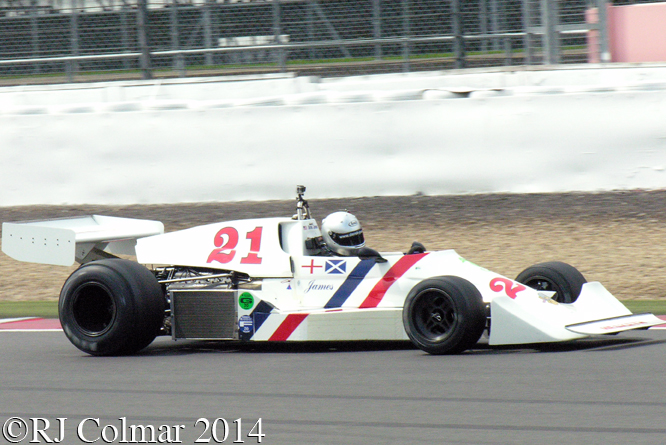 Hesketh 308C, Derek Jones, Silverstone Classic,