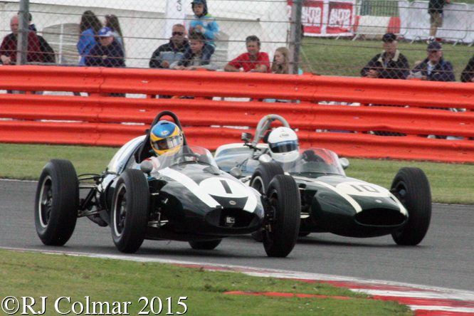 Cooper T51, Harvey, Cooper T53, Nuthall, Silverstone Classic,