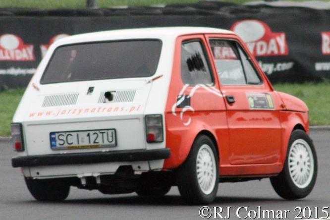 FIAT 126 Proto Honda CBR, Waldemar Janecki , Rally Day, Castle Combe
