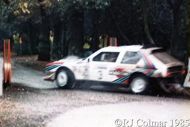 Lancia Delta S4, Alén, Kivimäki, RAC Rally, Wollaton Park, Nottingham