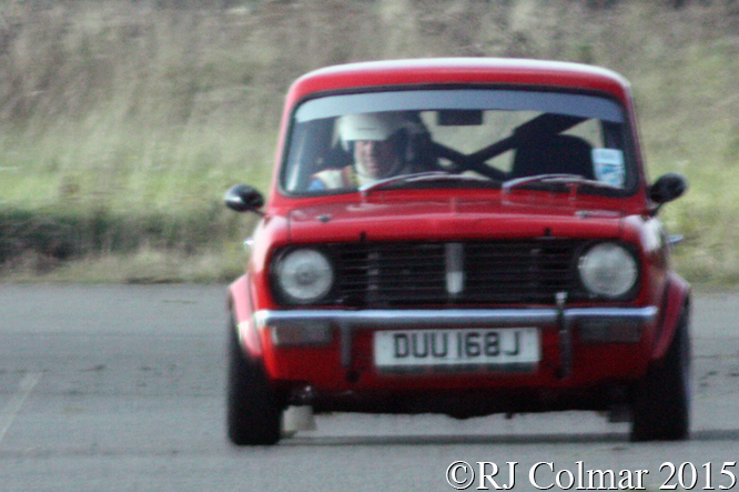 Leyland Mini Clubman, Julian Kirwan, Hertfordshire County Auto & Aero Club, Autumn Sprint, Debden Airfield, Essex