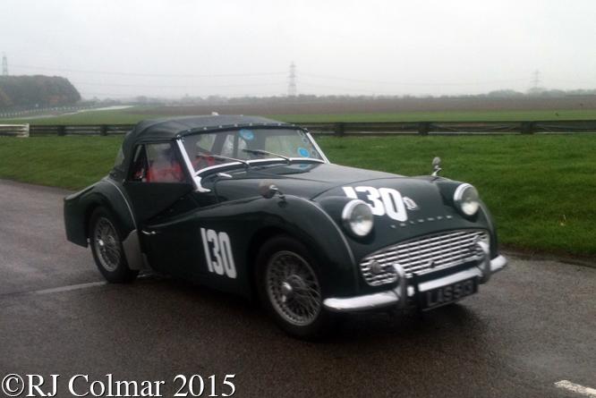 Triumph TR3A, Tom Purves, MANBAT Pegasus Sprint, Castle Combe