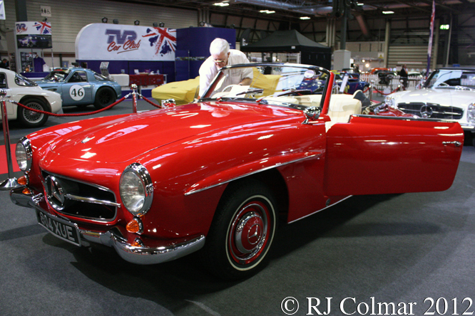Mercedes Benz 190 SL Roadster, Classic Motor Show, NEC, Birmingham