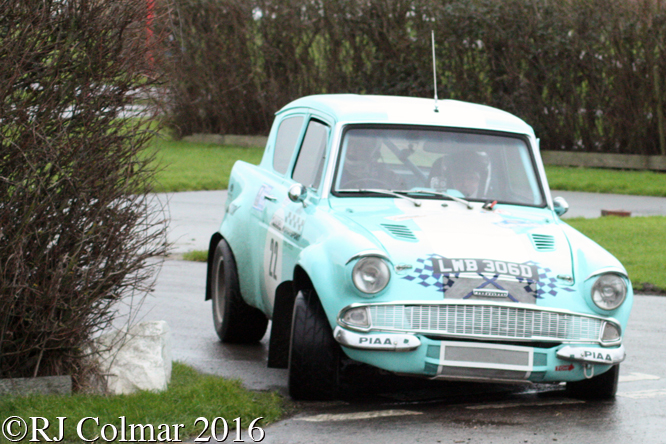 Ford Anglia, Andrew Phipp / Colin Silvester, Brean Stages Rally, Brean Leisure Park,