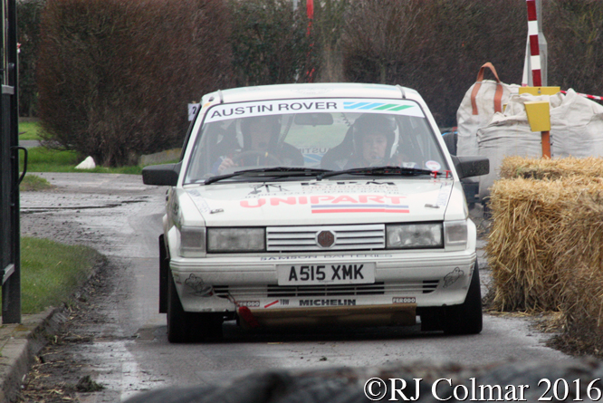 MG Maestro, Kevin/Megan McCarron, Brean Stages Rally, Brean Leisure Park,