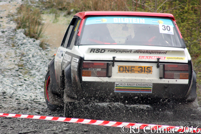 FIAT Abarth 131 Rally, Matthew Robinson, Sam Collins, Penmachno, Cambrian Rally,