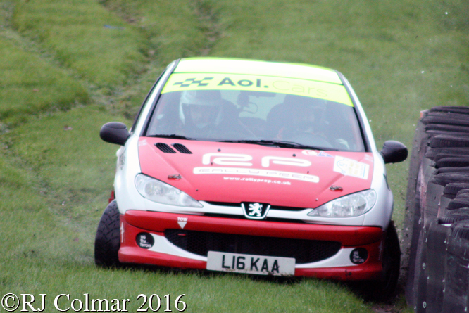 Peugeot 206, Mike Askew, James Baggott, MGJ Engineering Winter Stages Rally, Brands Hatch