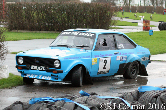 Ford Escort Mk2, Josh Payton / Marcus Mizen, Brean Stages Rally, Brean Leisure Park,