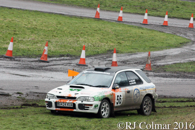Subaru Impreza Wagon, Gary / Tom Bollands, MGJ Engineering Winter Stages Rally, Brands Hatch