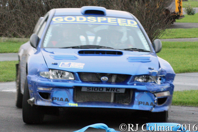 Subaru Impreza WRC, Ian Godney / Chrstopher Gifford, Brean Stages Rally, Brean Leisure Park,