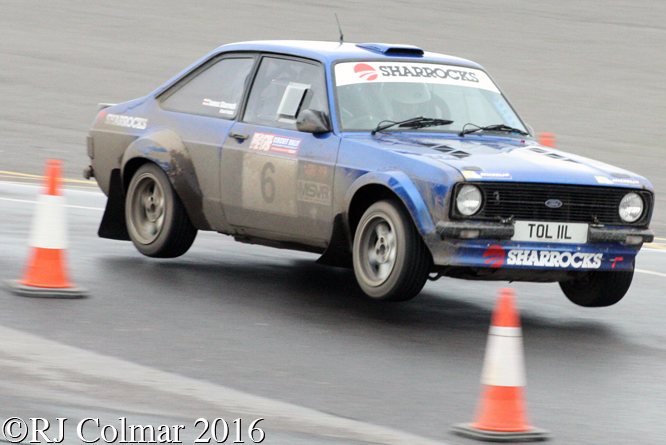 Ford Escort Mk2, James Sharrock, Stuart Faulds, MGJ Engineering Winter Stages Rally, Brands Hatch