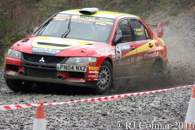 Mitsubishi Lancer Evo IX, Luke Francis, John H Roberts, Penmachno, Cambrian Rally,