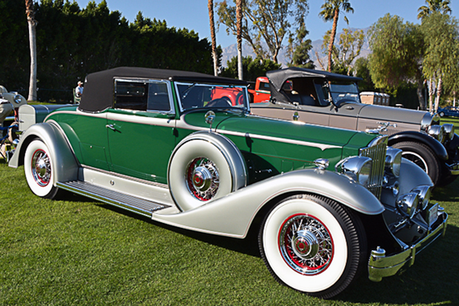 Packard Series 1005 Custom Twelve Convertible Roadster, Desert Classic Concours d'Elegance, Palm Springs
