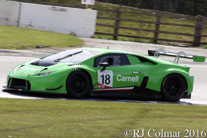 Lamborghini Huracan GT3, Darren Nelson, Adam Carroll, Donington Park